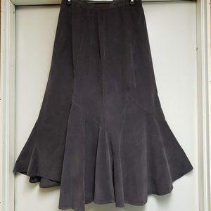 J Jill Asymmetrical Gore Flare Skirt Size 6 Gray